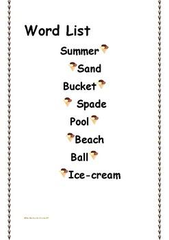 Summer Words Ice-Cream