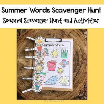 Summer Words Scavenger Hunt