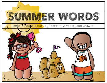 Summer Words (Sight Word Boards)