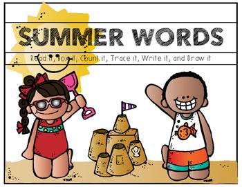 Summer Words (Sight Word Boards)