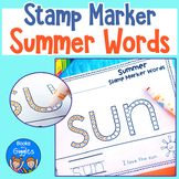 Summer Words Stamp Marker Worksheets