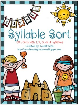 Summer Words Syllable Sort