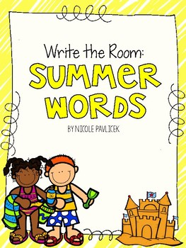 Summer Words Write the Room
