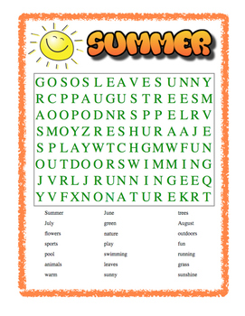 Summer Wordsearch