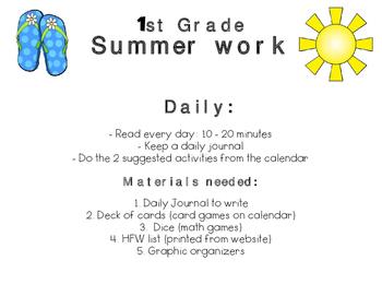 Summer Work - 1st Grade