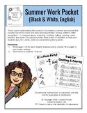 Summer Work Packet - ENGLISH VERSION