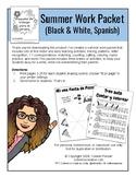 Summer Work Packet - SPANISH VERSION