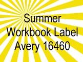 Summer Workbook Label