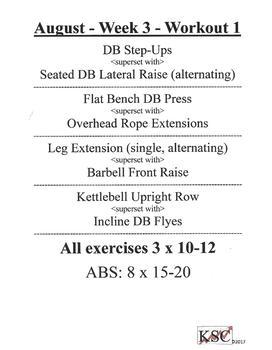 FREE Summer Workout Bundle- KSC Strength-Training Manual