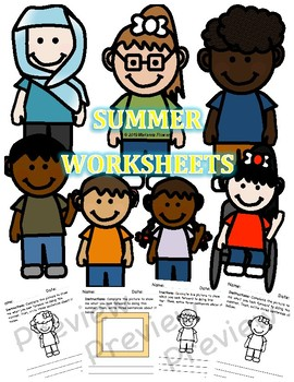 Summer Worksheet Bundle - Tell me your summer plans (Draw & Write)
