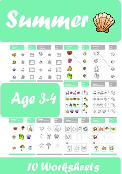 Summer Worksheets Age 3-4