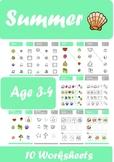 Summer Worksheets Age 3-4