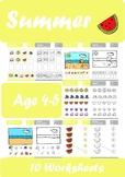 Summer Worksheets Age 4-5