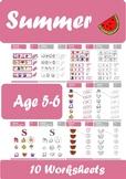 Summer Worksheets Age 5-6