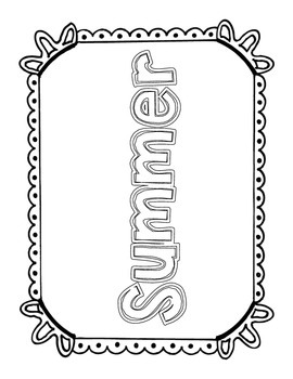 Summer Worksheets FREEBIE!