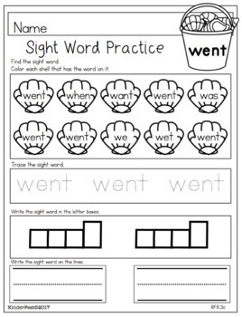 Summer Worksheets for Kindergarten - ELA and Math Common Core Aligned