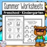 Summer Worksheets for Preschool - Kindergarten