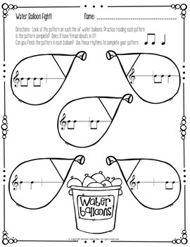Summer Worksheets for the Music Learning Theory Inspired Classroom