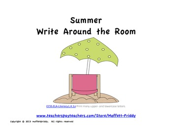 Summer Write Around the Room