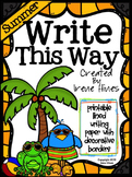 Summer Write This Way ~ Decorative Printable Lined Writing Paper Set