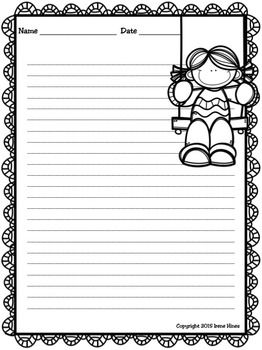 Summer Write This Way Decorative Printable Lined Writing