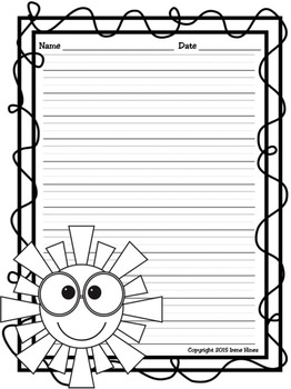 ✏️Writing ~ Summer Write This Way ~ Decorative Printable Lined Writing Paper Set