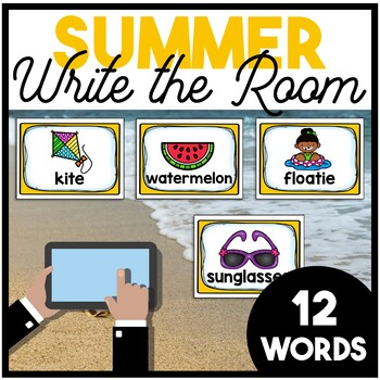 Summer Write the Room | Boom Cards Included