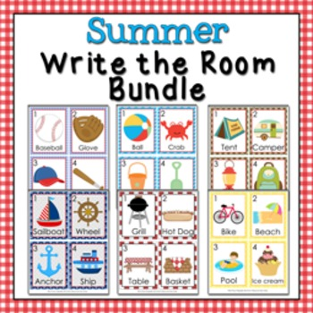 Summer Write the Room Bundle