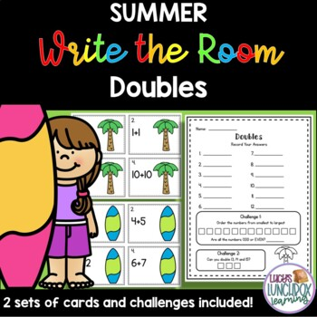Summer Write the Room - Doubles