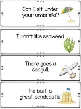 Summer Write the Room Kindergarten - 2 (Differentiated)