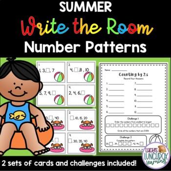 Summer Write the Room - Number Patterns