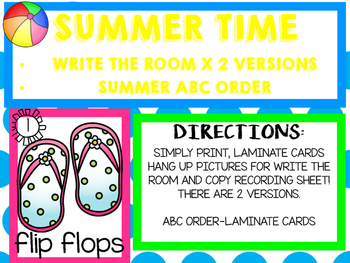 Summer Write the Room/Summer ABC Order
