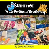 Summer Write the Room Vocabulary