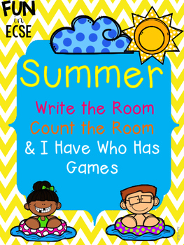 Summer Write the Room and I Have Who Has Games