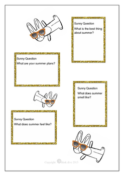 Summer Writing - Using Sunny Questions