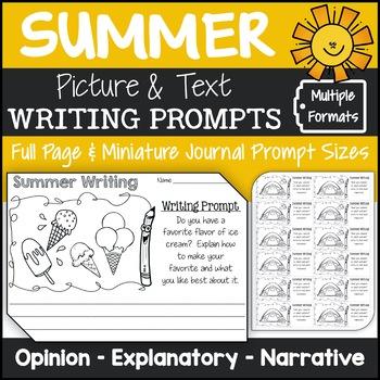 Summer Writing Prompts {Narrative Writing, Informative & O