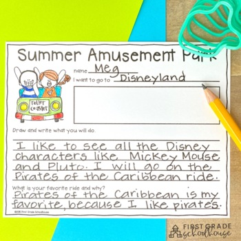 Summer Writing for Second Grade by First Grade Schoolhouse ...