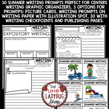 Summer Writing Prompts- 4th Grade, 5th & More
