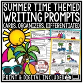 Summer Writing Prompts 3rd Grade, 4th Grade, 5th Grade with Graphic Organizers