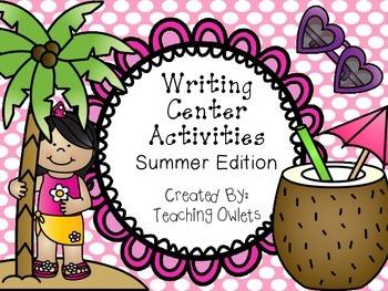 Summer Writing Activities - Sentence Scramble & Spin a Story