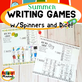 Summer Writing Activities Spin, roll, and write!  Picture writing prompt games!