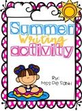 Summer Writing Activity