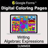 Summer: Writing Algebraic Expressions - Google Forms | Dig
