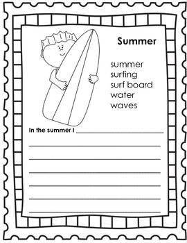 Anchor Chart and Writing Prompts {Summer}
