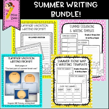 Summer writing bundle 4 activities by miss zees activities tpt summer writing bundle 4 activities maxwellsz