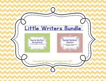 Summer Writing Bundle for Little Learners