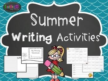 Summer Writing Activities