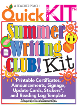Summer Writing Club Quick Kit™