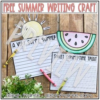 Summer Writing Crafts FREEBIE