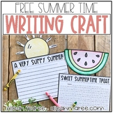Summer Writing Crafts FREEBIE